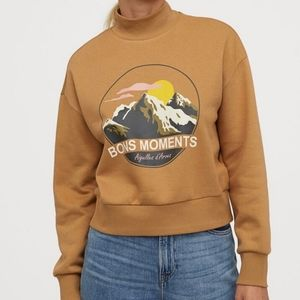 H&M Bons Moments Mock Neck Sweater